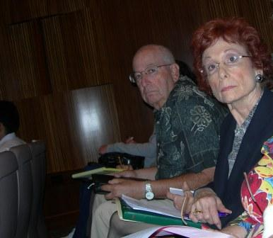 Dick Herman and Barbara Zee select committee attendees
