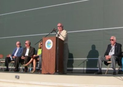 President Schulbaum Addressing Sunset Cove Amphitheater